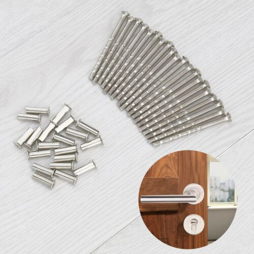 20x Set of Universal M4x60mm Snap Off Screws with Sleeve For Escutcheons Knobs