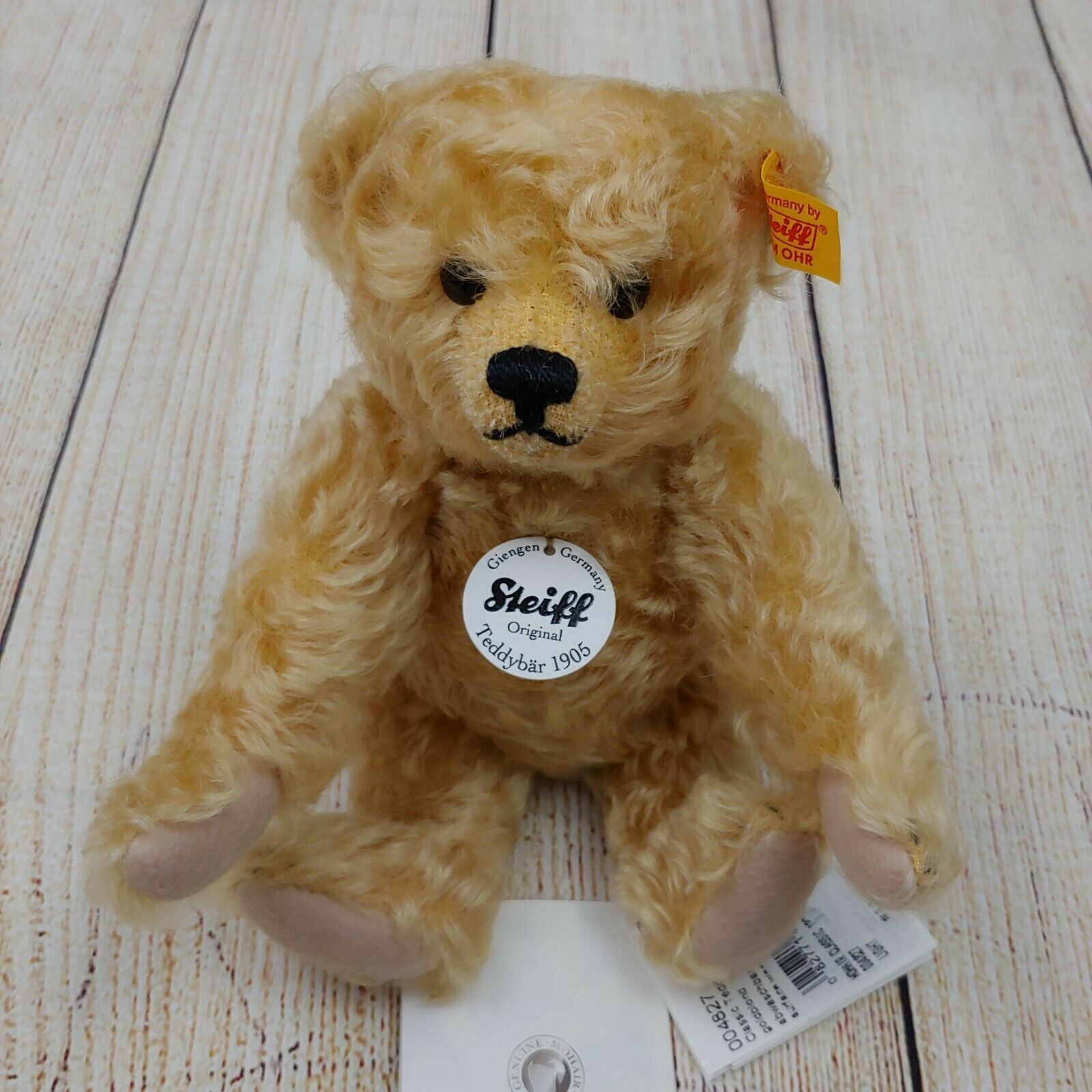 Steiff Classic Series Blonde Mohair Jointed with Button Teddy Bear NWT, 10