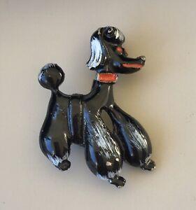 Adorable-Vintage-Poodle-dog-Brooch-enamel-on-metal