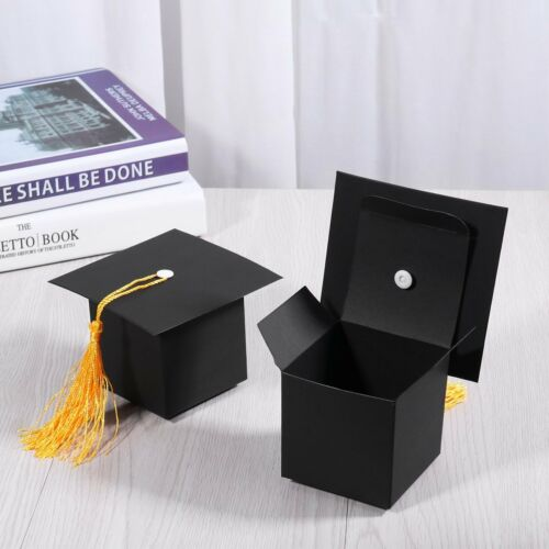 Graduation Cap Shaped Gift Toy Candy Sugar Party Chocolate Box 24Pcs New