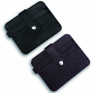 fe7cb00bcbe3 Details about 2PCS Mini Real Leather Credit Card Holder 4 Card Slots Small  Cash Pocket Wallets