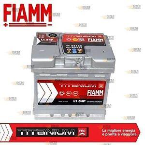 FRP-BATTERIA-AVVIO-AUTO-DX-12v-54Ah-EN-520A-FIAMM-TITANIUM-PRO-L154P-battery