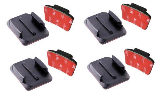 4 8x 3M Adhesivo de montaje y Curvo Adhesiva de Montaje para GoPro HD Hero 1 2 3