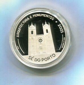 PORTUGAL-10-EUROS-PLATA-2005-VI-SERIE-IBEROAMERICANA-PROOF-NUEVA