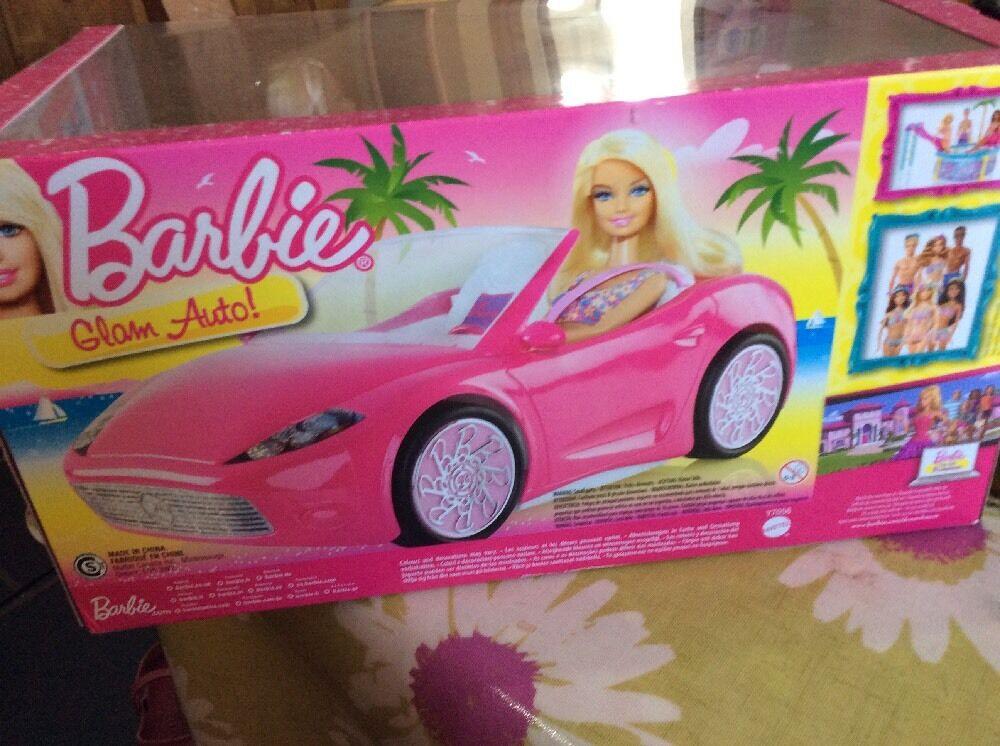 BARBIE CAR DOLL  BNIB BARBIE Pink Pink Pink Glam Auto Car DOLL INCLUDED baf95c