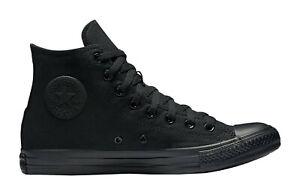 Converse-All-Star-Chuck-Taylor-Shoes-All-Black-Canvas-Hi-Top-Men-Sneakers-M3310