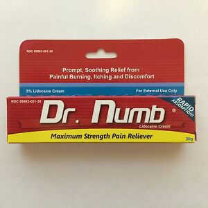 Dr numb 5 lidocaine cream 30 gr skin numbing tattoo for Lidocaine for tattoos
