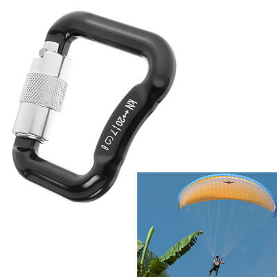 Details about  /2x Paraglider Paragliding Parachute Climbing Safety Auto Lock Carabiner 20KN