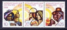 Germany DDR 1622a MNH 1975 International Women's Year Strip of 3 Very Fine