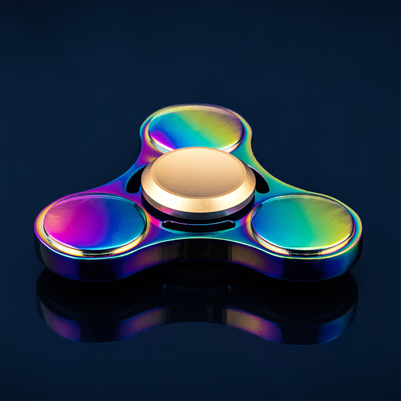 Round Rainbow Fidget Spinner Toy for Focus and Stress Reduction Multiple QTY