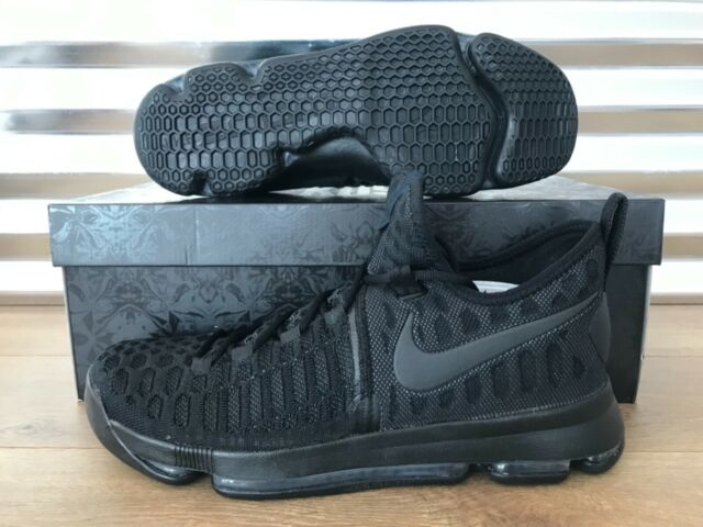reputable site 9ef2a 0449d NIke Zoom KD 9 Basketball Shoes Triple Black Blackout Anthracite SZ  (843392-001)