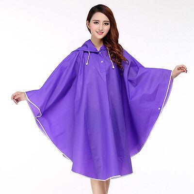 Waterproof Raincoat Women Cycling Poncho Portable Hood Cape Translucent Rainwear