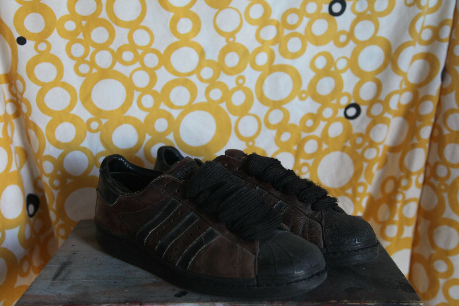 Adidas Superstar Black/Brown Sz US 9,5 early 90s