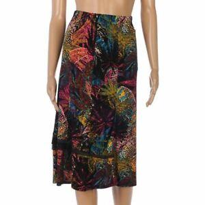 PAUPORTE-Skirt-Black-Yellow-Pink-Ruffle-Size-1-UK-14-LA-1039