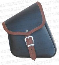 Borsa moto 2 laterale da telaio bicolore harley davidson softail custom bobber