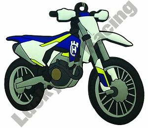 Husqvarna-FC-250-rubber-key-ring-motor-bike-cycle-gift-keyring-chain