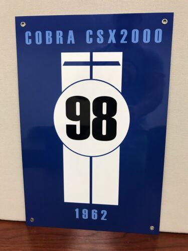 Shelby Cobra CSX 2000 Racing Vintage Reproduction Garage Sign