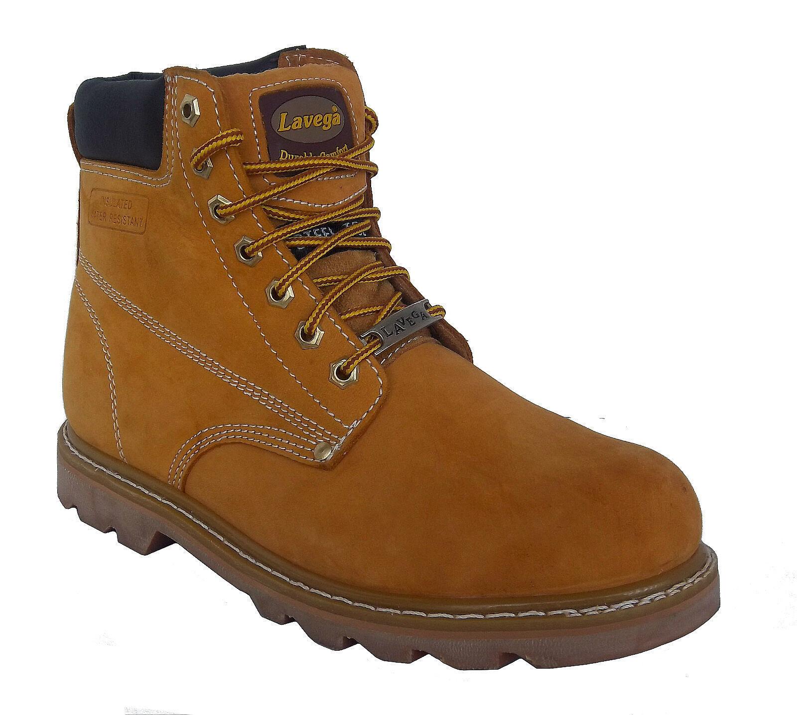 La Vega 8632 Mens Tan Leather Insulated Non Slip Steel Toe Work Stiefel