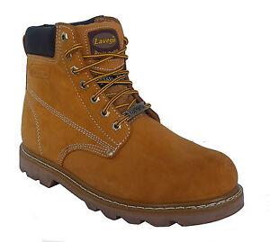 La Vega 8632 Mens Tan Leather Insulated Non Slip Steel Toe Work ... cbbbe31d8e5