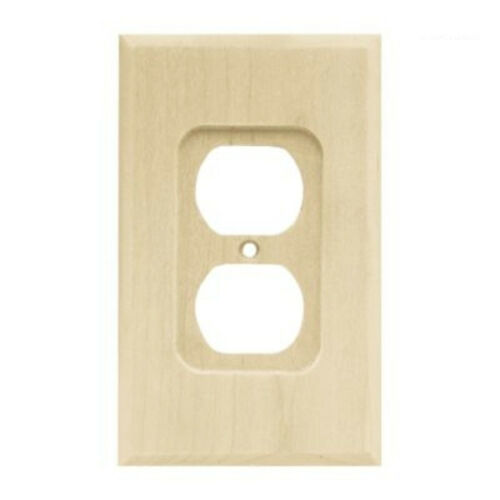 64666 Unfinished Wood Single Duplex Cover Wall Plate