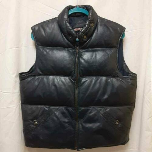 Goose Country Mens Vest Blue Lined Down Filled Poc