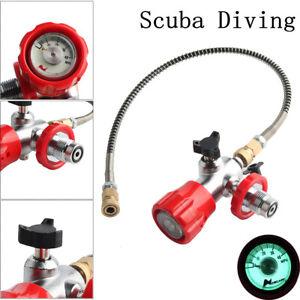 G 5/8 Thread Scuba Diving Dive Tank Fill Station w/ Valve Gauge Hose Fittings