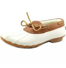 New Womens Sperry Cormorant Ivory/Cognac Waterproof Shoes Boots Size 5 M