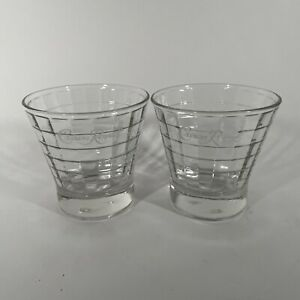 Crown Royal Tapered Windowpane Optic Block Whisky Rocks Glasses, Set of 2