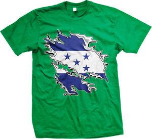 Honduras Flag Colors Font Honduran Soccer Heritage Born From HND Men/'s T-Shirt
