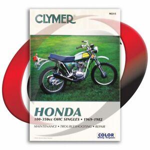 1972-1976-Honda-XL250-Repair-Manual-Clymer-M315-Service-Shop-Garage-Maintenance