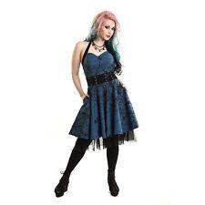 VIXXSIN DARK CROW DRESS BLUE BLACK GOTHIC POIZEN EMO PUNK ALT L