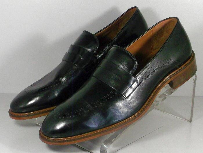 150431 SP50 Chaussures Hommes Taille 9 m Noir Cuir à Enfiler Johnston & Murphy