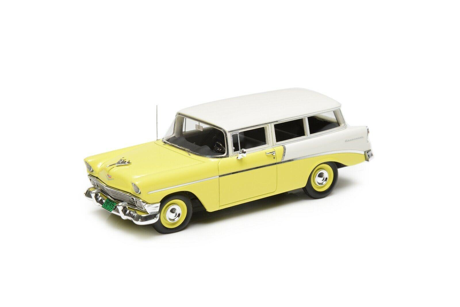 Tienda 2018 Esval modelos Edición Limitada 1956 Chevrolet 210 Handyman Cochero Cochero Cochero de 2 puertas Amarillo 1 43 modelo de resina  online barato