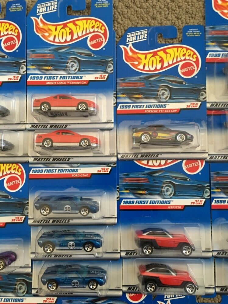 Hot Wheels 1999 First First First Editions with Doubles Lot Of 27 Cars -- 014 1b0525