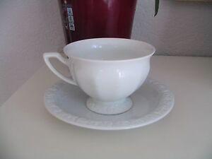 BANDTILERosenthal Maria weiß Kaffeegedeck Kaffeetasse + Unterteller alte Serie