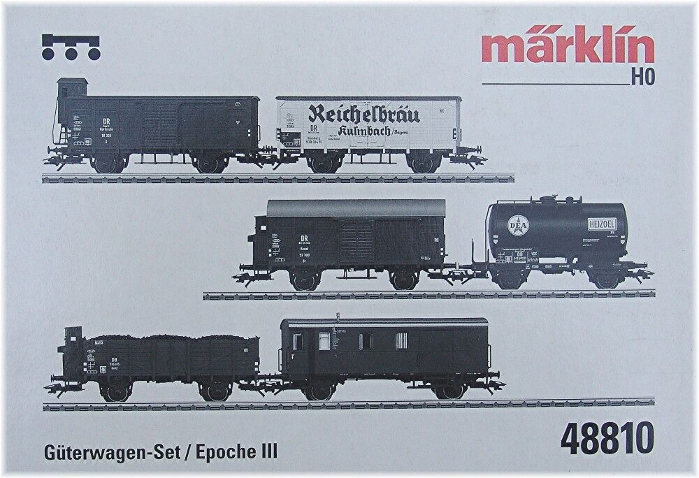 Märklin 48810- Set with 6 Freight cars. PWGS 41, Om 12, Z DEA, G 10 is