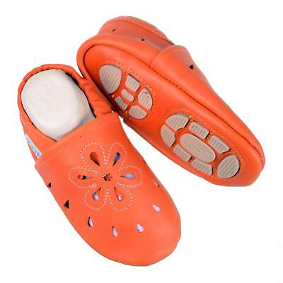 Pantofole's Baby Scarpe Pantofole Liya - #637 Grande Fiore In Arancione- Quell Summer Thirst