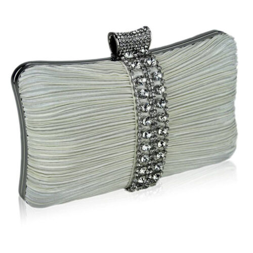 Women Ivory Purse Handbag Ladies Daimante Crystal Party Wedding Prom Clutch Bag