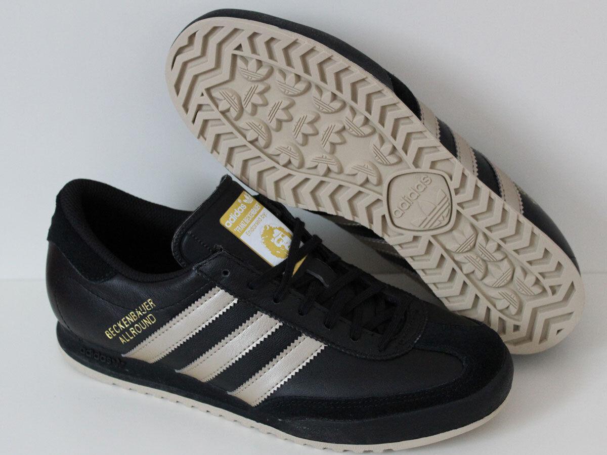 Adidas Beckenbauer Allraund Damen / Herren Sneaker Schwarz Schuhe Leder Gr 40