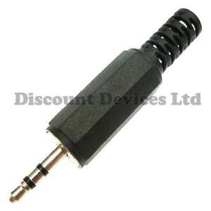 2,5mm Mini Jack Plug Stereo, Phono, MP3, MP4 Audio