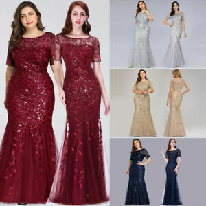 Ever-pretty-Plus-Size-Sequins-Bridesmaid-Dresses-Mermaid-Evening-Party-Prom-Gown