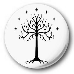 TREE-OF-GONDOR-25mm-1-034-Button-Badge-Novelty-Cute-Lord-Rings-Tolkien