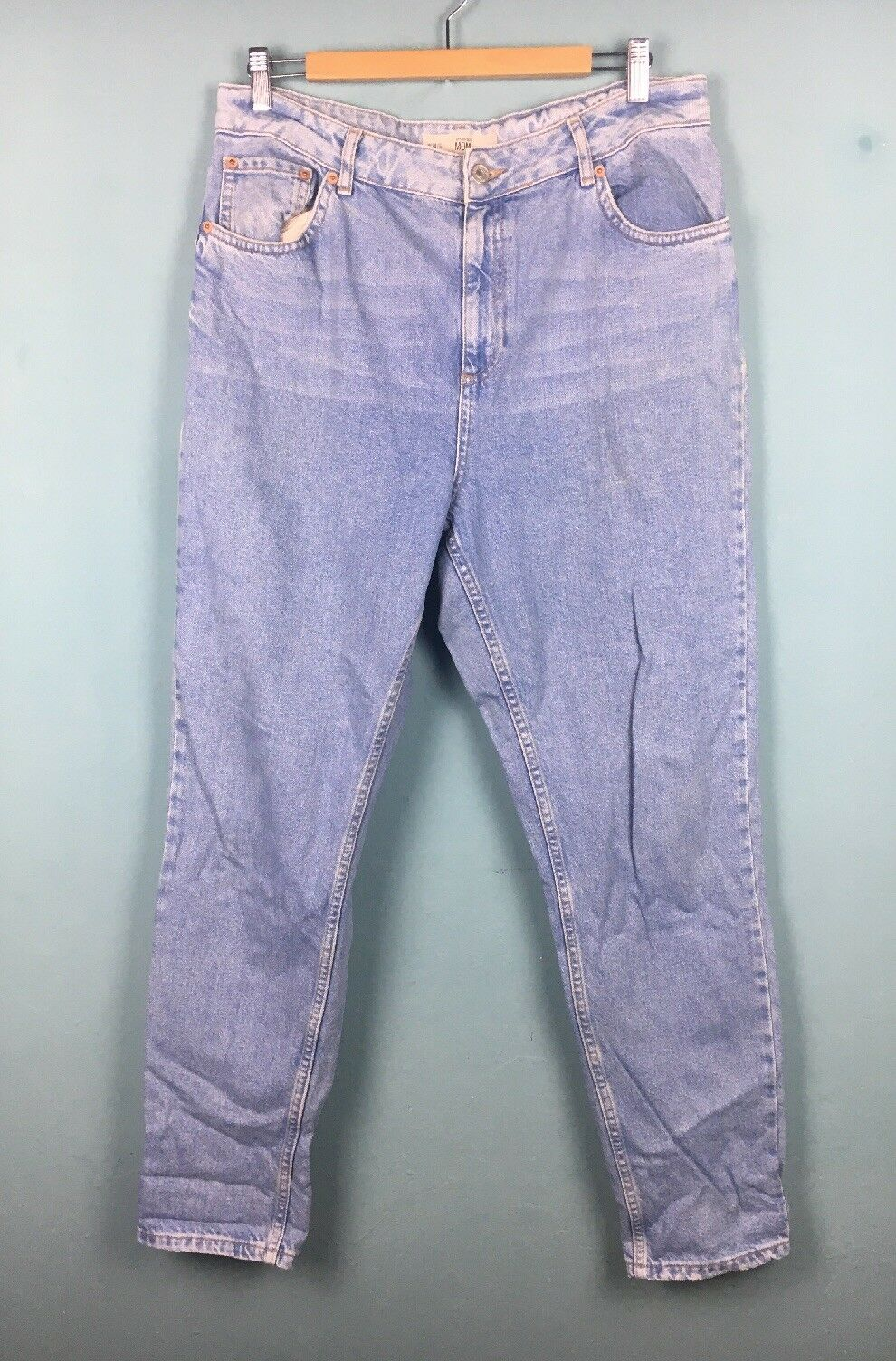Topshop bluee Retro Vintage Style Mom Jeans W34 L30 16 - B57