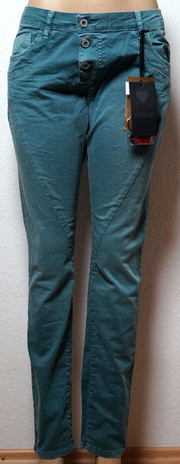 PLEASE wunderschöne Damen Jeans P 78A petrol Gr. M NP.  99 95