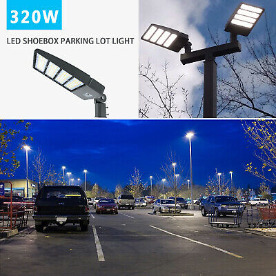 Yoke//Wall//Trunnion Mount Parking Lot Light 1000W MH//HPS Equiv 300W LED Shoebox
