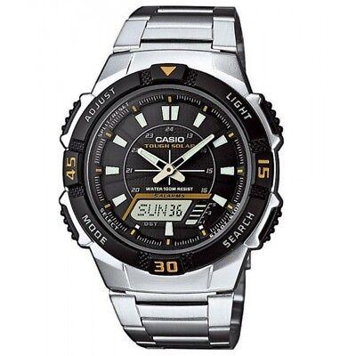 Casio Herrenuhr Uhr Edelstahlband Solar Solaruhr Alarm 10 Bar AQ-S800WD-1EVEF