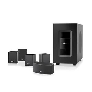 5 1 channel home theater system active subwoofer. Black Bedroom Furniture Sets. Home Design Ideas