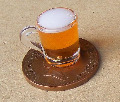 1:12 Handmade Full Plastic Tankard Of Beer Dolls House Miniature Pub Drink HW