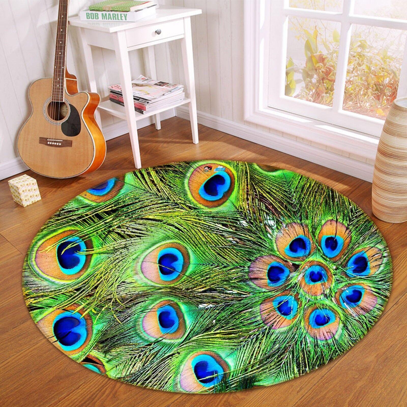3D Piume di Pavone 2 tappetino antiscivolo tappeto camera tappetino tappeto rossoondo elegante foto Regno Unito