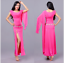 one-piece Long Skirt Belly Dance Costumes Performance one side slit dress 5005